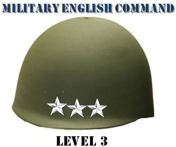 Third level of language proficiency according to Stanag6001. 3 star general helmet