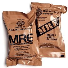 American military food rations - MRE.