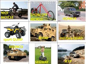 Military vehicles - exercises on describing vehicles. English practice for military learners.